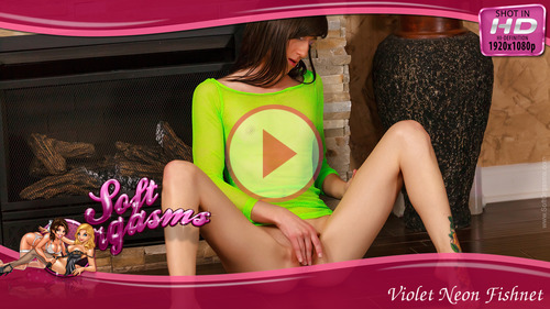 Violet Neon Fishnet - Play FREE Preview Video!